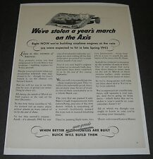 Print Ad WW2 1942 Buick General Motors War Production Victory is our Business