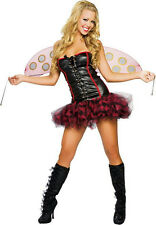 Roma Women's Lil' Lady Bug Sexy Ladybug Adult Costume Dress and Wings M/L