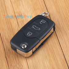 Flip Remote Key Shell Case Cover Fob FOR AUDI TT A4 A6 3 Buttons CR2032 Battery