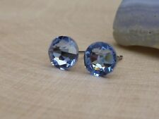 Genuine Austrian Crystal Surgical Stainless Steel Studs 6.4mm ~ Light Sapphire