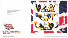 5 AUGUST 2005 LONDON 2012 MINIATURE SHEET ROYAL MAIL FIRST DAY COVER LONDON E15
