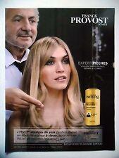 PUBLICITE-ADVERTISING :  Franck PROVOST Expert Mèches  2015 Coiffure,Vinaigre