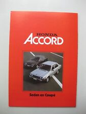 Honda Accord Sedan Coupe folder brochure Prospekt text Dutch/Flemish 8pgs 1979