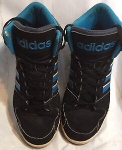 Men's Adidas High Top Sneakers Neo Label Size 12 Blue And Black.