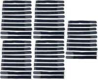 50x Kabelklettband 20cm x 20mm schwarz Klettband Klett Kabel Binder Band mit Öse