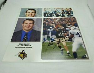 Drew Brees Purdue Signed Photograph NFL