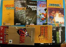 Nintendo 64 manuals lot see picture. List in the description.