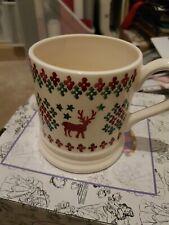 EMMA BRIDGEWATER SAMPLE rare special Christmas jumper 1/2 pint MUG