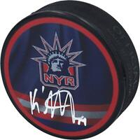 K'Andre Miller New York Rangers Autographed Reverse Retro Logo Hockey Puck