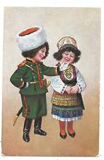 COSTUME / CHILDREN - RUSSIAN COSSACK Postcard