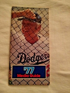 1977 Los Angeles Dodgers Media Guide Tommy Lasorda on Cover