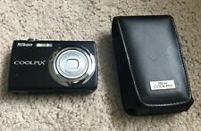 Nikon COOLPIX S220 10.0MP Digital Camera Graphite black & case