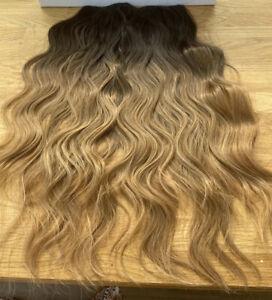 Easilocks hair extensions Medium Brown Ombre Beach wave