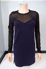 Isabel Marant Purple & Blakc Dress Size 40 Uk 10 NEW BNWTS wol Blend