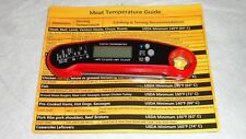 Instant Read Digital Meat Thermometer For Bbq Cooking with Temperture Guide