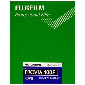 Fuji Professional PROVIA 100F RDPIII 5x4 Large Format Slide Film (Dated 09/2021)