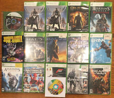Xbox 360 Video Game Lot Of 16 Games - Halo, Assassins Creed, Destiny, Brink, Etc