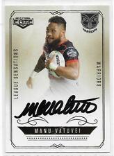 2017 NRL Elite League Sensations Signature (LS 15) Manu VATUVEI Warriors 027/130