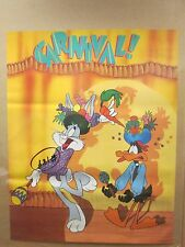 vintage Carnival! Looney tunes 1987 poster daffy duck Bugs bunny 11799