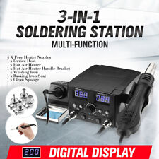 750W 2 In 1 LCD Soldering Iron Station Desoldering Hot Air Rework Heater Tool