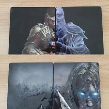 2 x Steelbooks Shadow of Mordor AND Shadow of War Steelcase - No disc - PS4 Xbox