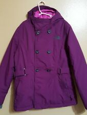 The North Face Hyvent Purple Hooded Spring Fall Winter Jacket - Girls Large