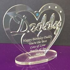 Personalised Heart for Daddy with message  Birthday, Father's Day Gift/Ornament