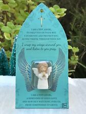 "Miniature FAIRY GARDEN Terrarium ~ Micro Mini 1½"" H Praying Angel Figurine Token"