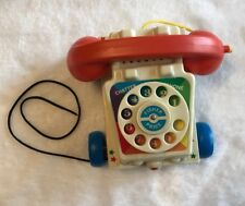 FISHER PRICE Telephone Retro Style 2009 Pull Toy works eye phone rotary