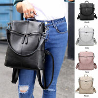 Women Shoulder Bag Rucksack Leather Satchel Travel School Backpack College Bags
