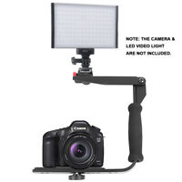 Quick Flip Metal Flash Bracket Grip Arm Holder Stand For Canon Nikon DSLR Camera