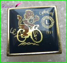 Pin's Le LION'S CLUB Le lion à Vélo Cycle Cyclolions 1991  #16