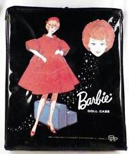 Vintage Barbie Carrying Case Mattel 1963 Red Flame Bubble Cut Midge Black
