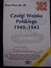MILITARIA 382, CZOLGI WOJSKA POLSKIEGO 1940-43(AFV OF POLISH ARMY) BY J. LEDWOCH