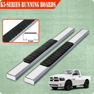 "For 02-08 Dodge Ram 1500 Regular Cab 5"" Running Board Side Step Nerf Bar S/S H"