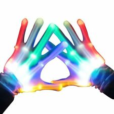 LED Gloves Skeleton Fingers Glowing Hands Halloween Party Games Club Funny