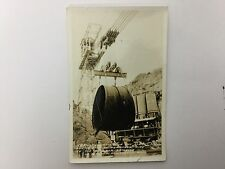 Boulder Dam Construction Penstock Pipe Real Photo Postcard