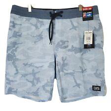 New listing NWT Pelagic Mens Size 36 Blue Fish Camo Deep Drop Hydro Repel Board Shorts