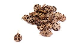 50 Pcs Of Olive Wood Jerusalem Cross Pendants Hand Made Holy Land Bethlehem
