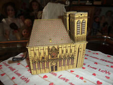 Antike mechanische Blechspieldose Drehorgel Notre Dame
