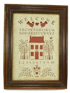 Welcome Alphabet Numbers Sampler Country Cuts Figi Graphics 6.5 x 8.5 Laser Cut