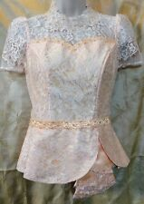 Cambodian/Khmer Lace Blouse(Peach)