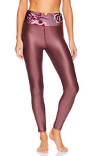 $80 Maaji Women's Prove Solid High Rise 7/8th Legging with Printed Waistband M