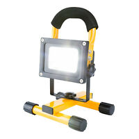 10W BRIGHT COB LED RECHARGEABLE CORDLESS PORTABLE BUILDING FLOOD LIGHT CAMPING