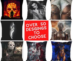 Cover Cushion Pillow Horror Tattoo Chucky Skull Muerte Freddy Pilowcase Jason