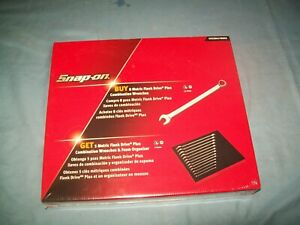 NEW Snap-on™ 7 thru 19 mm 12-pt FLANK Drive PLUS Wrench Set SOEXM01FMBRX Sealed