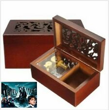 Solid Wood Miniature Hollow Music Box Jewelry Box:Harry Potter Theme