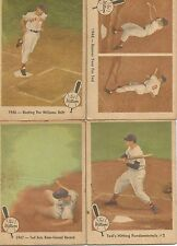 Vintage baseball cards Ted Williams 1946, 47, 48, and #2