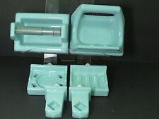 6 Pc SEAFOAM  Porcelain Ceramic Bathroom SET Soap Toilet Paper Towel Cup Holder