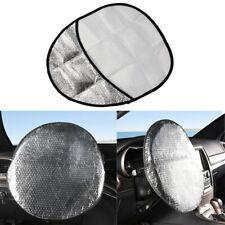 1pcs Car Steering Wheel Sun Shade Shield Sunshade Cover Heat Reflector 48x43cm